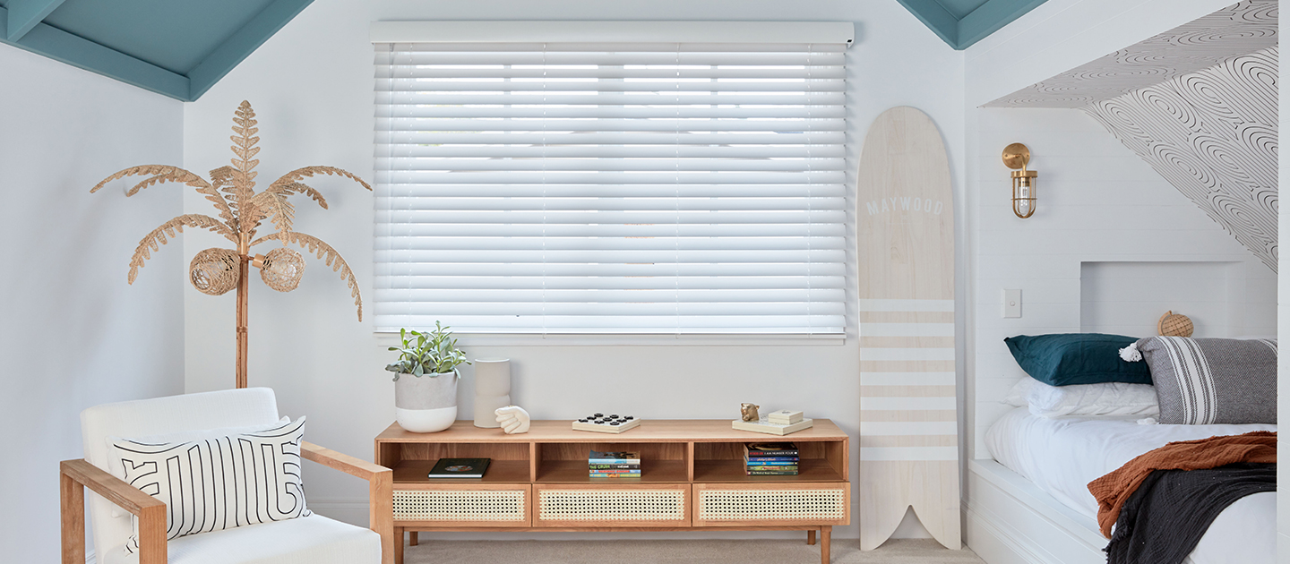 Luxaflex - Products - Shutters and Venetians - Wood Essence Blinds Banner image