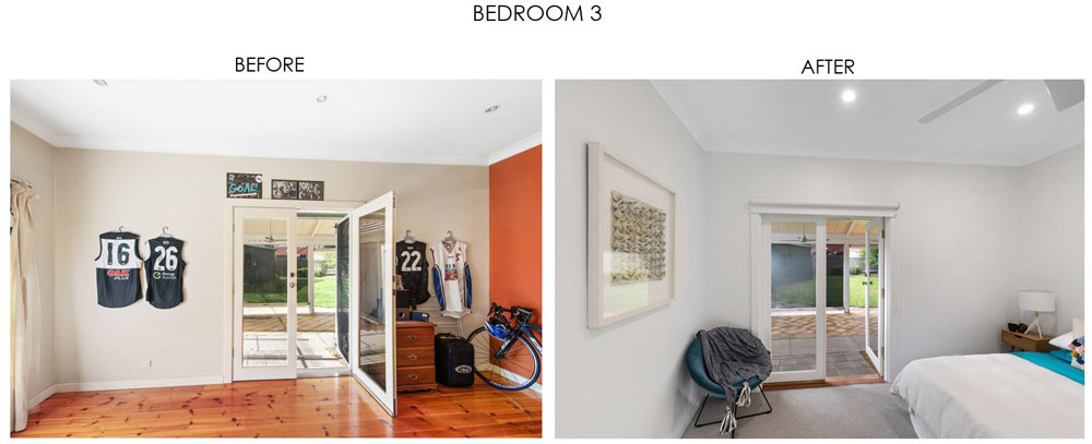 Selling Houses Australia - Season 13, Episode 7, Bedroom 3 - Before and After