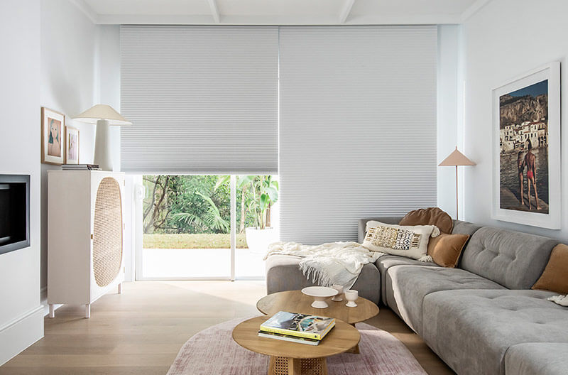 Luxaflex Duette Shades make the perfect addition to media rooms with minimal light gaps to create that perfect cinema experience as well as helping to keep the room cool in summer and warmer in winter