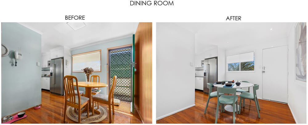 Selling Houses Australia - Season 13, Episode 8, Dining Room Before and After