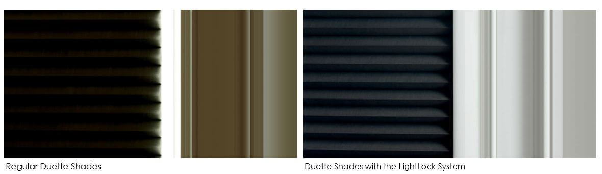 Luxaflex Duette Shades - Regular Duette Shades vs. Duette Shades with the LightLock system