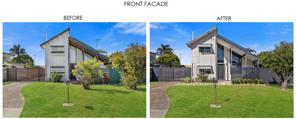 Selling Houses Australia - Season 13, Episode 8, Front Facade Before and After