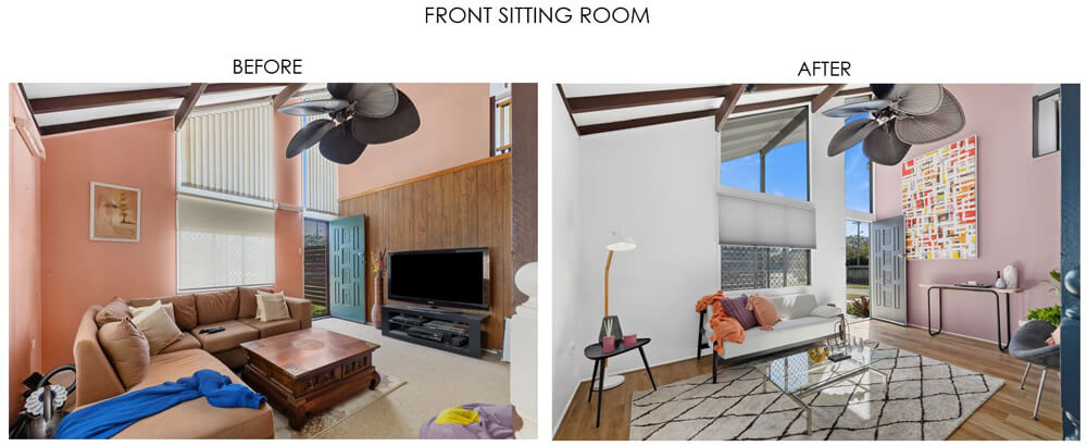 Selling Houses Australia - Season 13, Episode 8, Front Sitting Room - Before and After