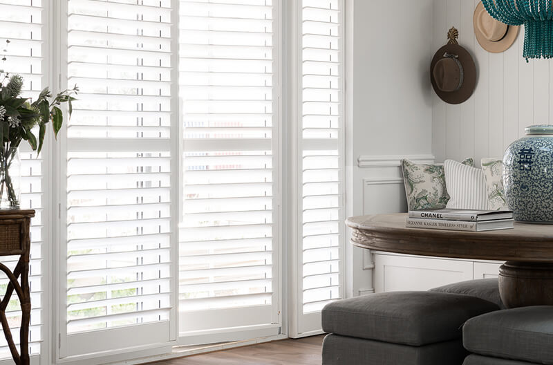 Luxaflex PolySatin Shutters as featured in the Indah Island Project