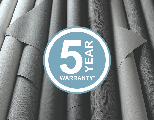 Component - Internal Fabrics 5 Year Warranty