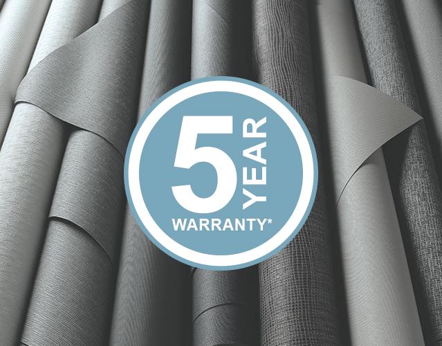 Component - Internal Fabrics 5 Year Warranty
