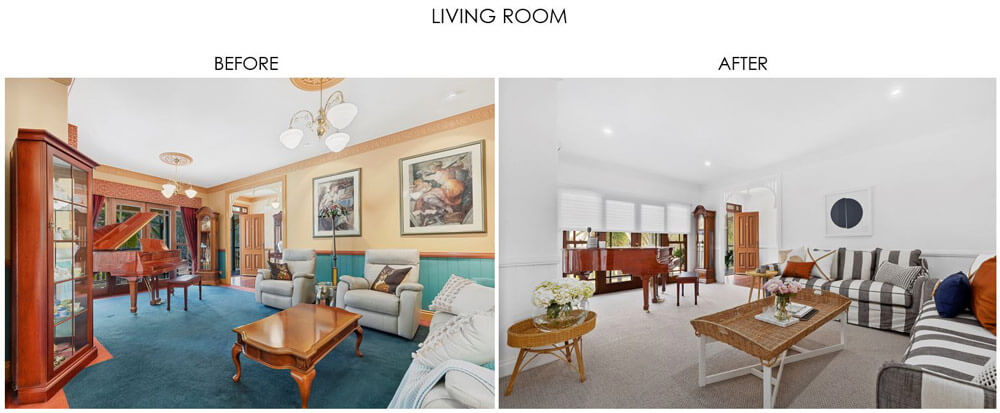 Selling Houses Australia - Season 13, Episode 10, Living Room Before and After
