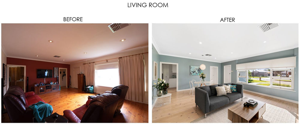 Selling Houses Australia - Season 13, Episode 7, Living Room - Before and After