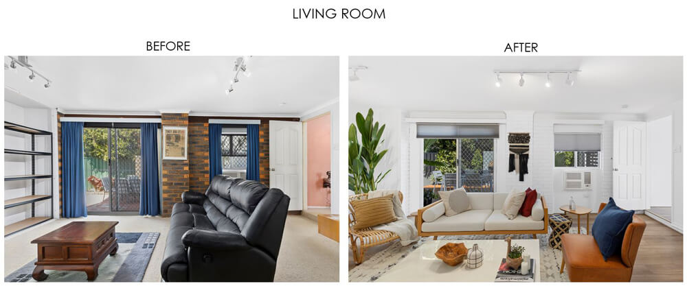 Selling Houses Australia - Season 13, Episode 8, Living Room before and after