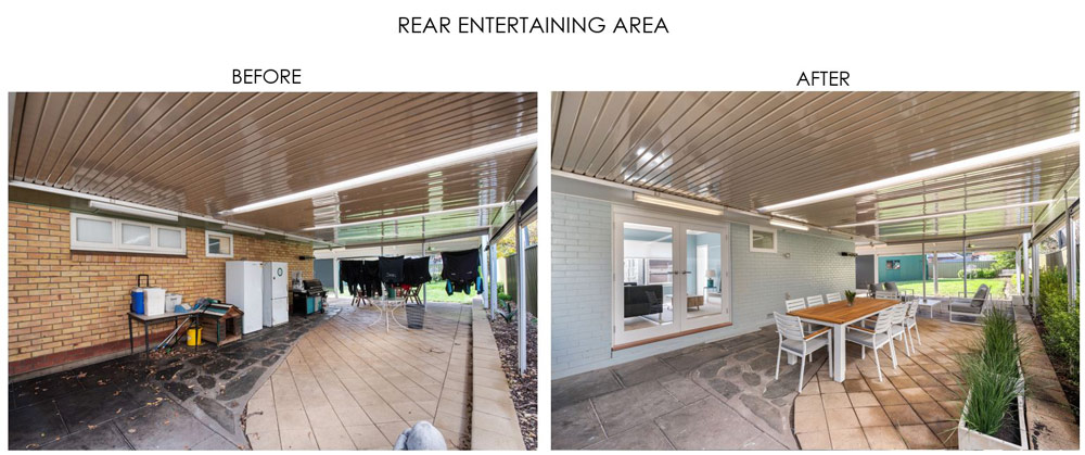 Selling Houses Australia - Season 13, Episode 7, Rear Entertaining Area - Before and After