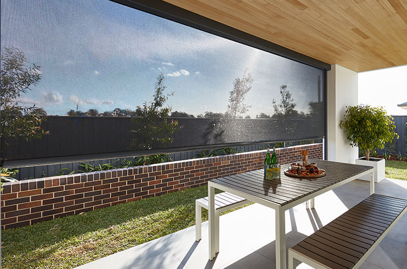 Luxaflex Evo Awning providing privacy and light control on outdoor entertaining area