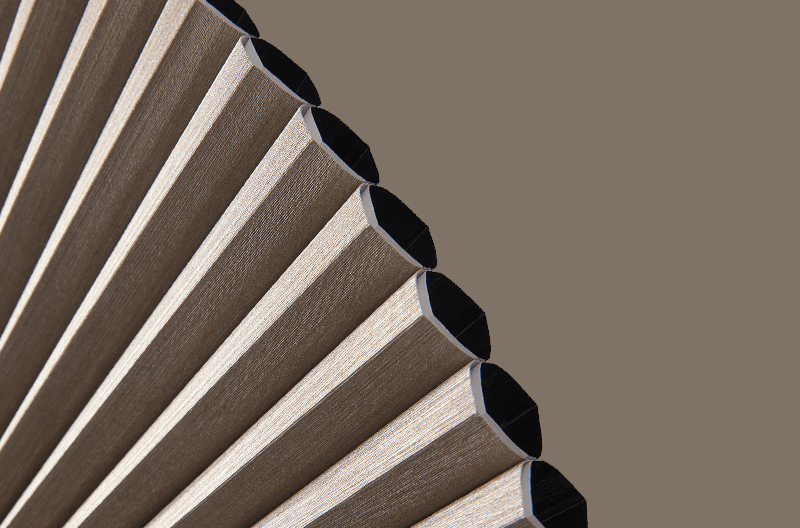 Sound absorption qualities with Duette Shades Honeycomb cell structure