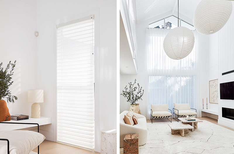 Three Birds Renovations House 14, Luxaflex Silhouette Shadings and Luxaflex Curtains
