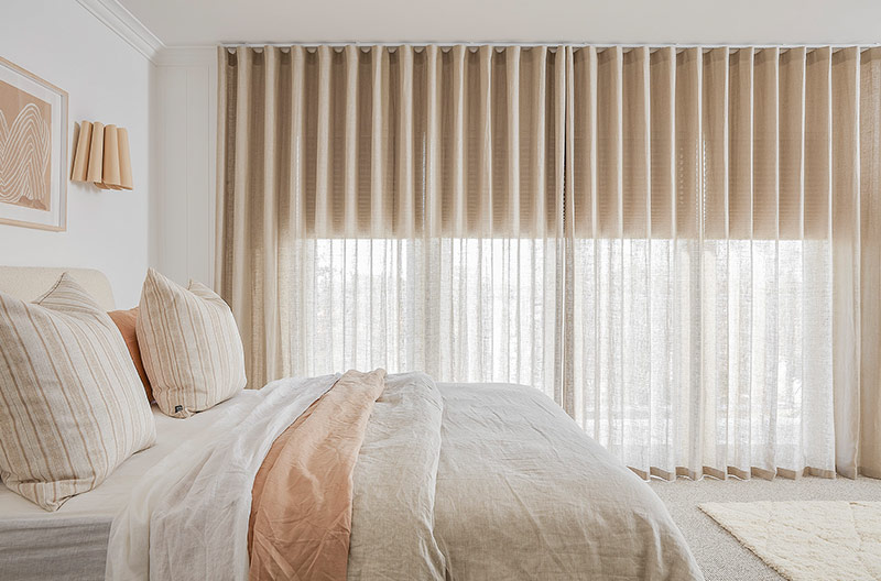 Three Birds Renovations House 14, Luxaflex Duette Shades and Luxaflex Curtains