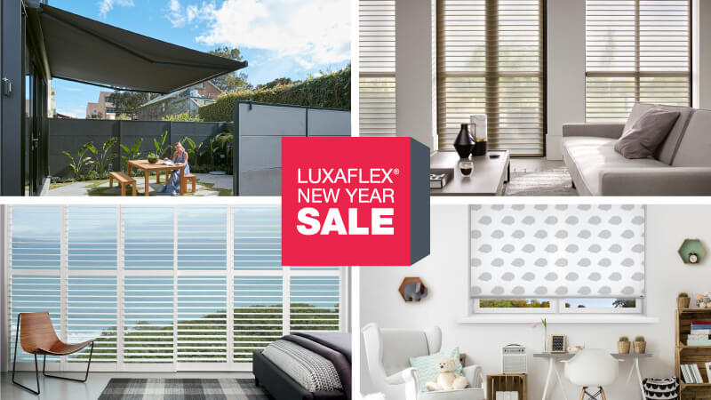 SAVE ACROSS A GREAT RANGE OF LUXAFLEX WINDOW COVERINGS