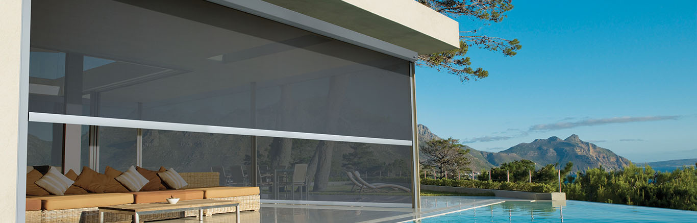 Luxaflex Showcase - Products - Exterior Collection - Straight Drop Awnings Bottom