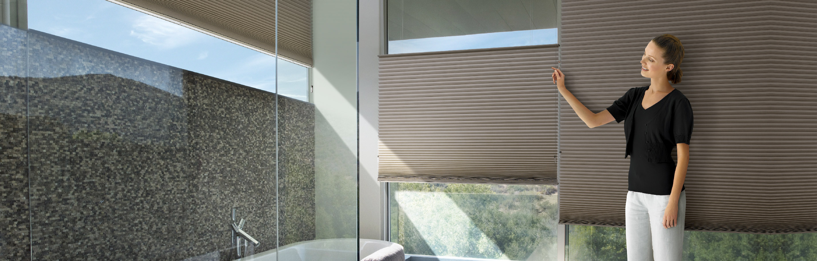 Luxaflex Showcase - Products - Softshades and Fabrics - Duette Shades Bottom