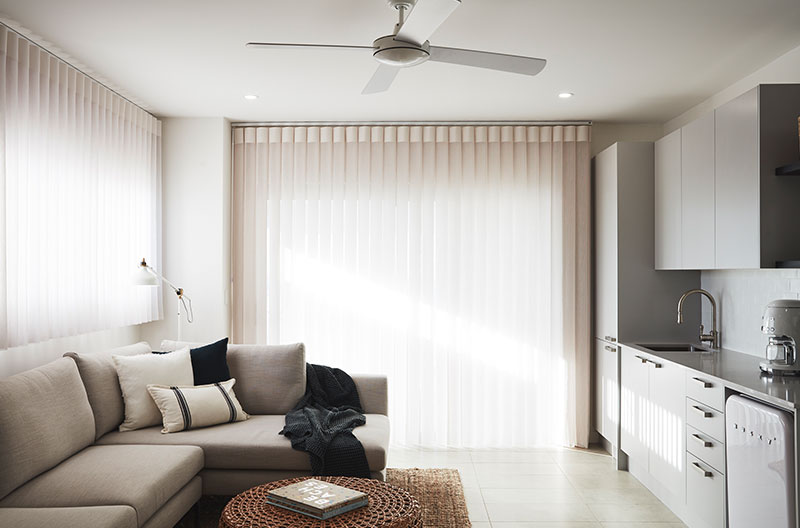 Luxaflex curtains paired with Luxaflex Duette Shades